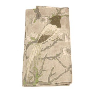 Tina Chen Designs Napkin Bird Motif With Color