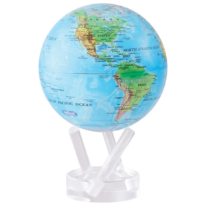 """MOVA® Globe Blue with Relief Map 4.5"""""""