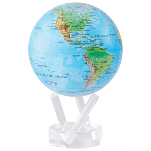 MOVA® Globe Blue with Relief Map 4.5""