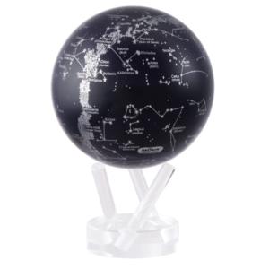 "MOVA® Silver/Black Constellations Globe 8.5"""
