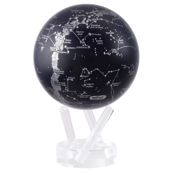MOVA® Silver/Black Constellations Globe 8.5""