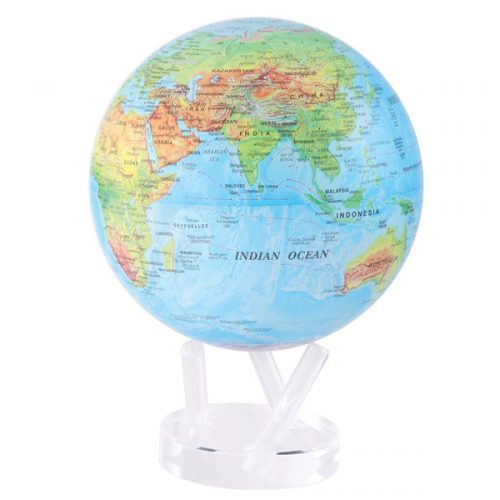 MOVA® Globe Blue with Relief Map 8.5""
