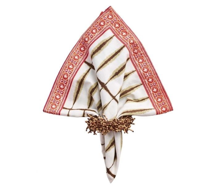Kim Seybert CARNIVAL Napkin Ring in Brown