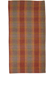 Deborah Rhodes Napkin WINTER PLAID Orange Grey