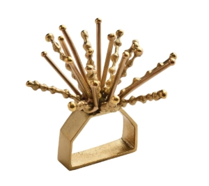 Kim Seybert Napkin Ring NOVA IN GOLD