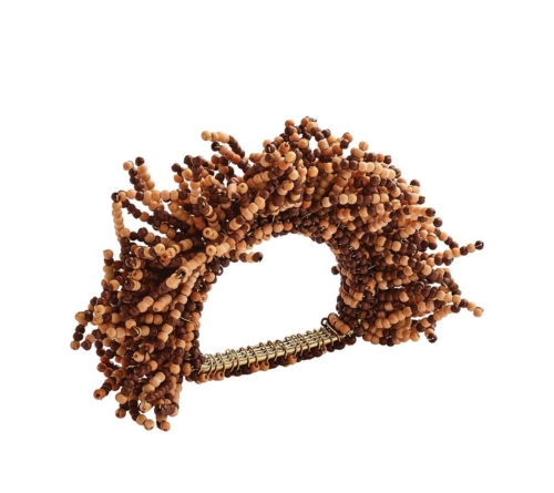 Kim Seybert CARNIVAL Napkin Ring in Brown