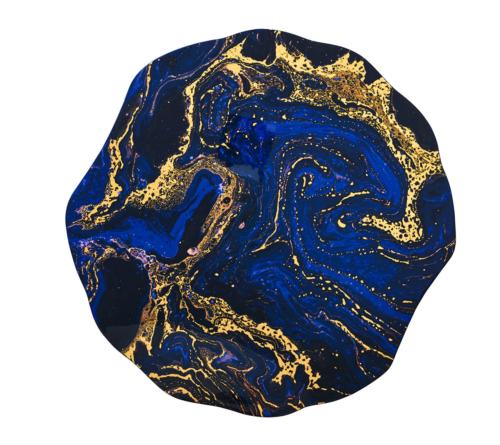 Kim Seybert COSMOS Placemat Midnight & Gold