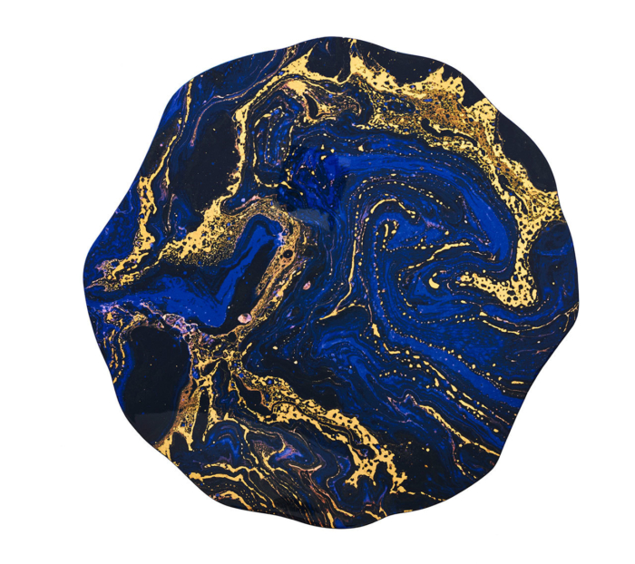 Kim Seybert COSMOS Placemat Midnight & Gold