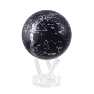 "MOVA® Silver/Black Constellations Globe 4.5"""