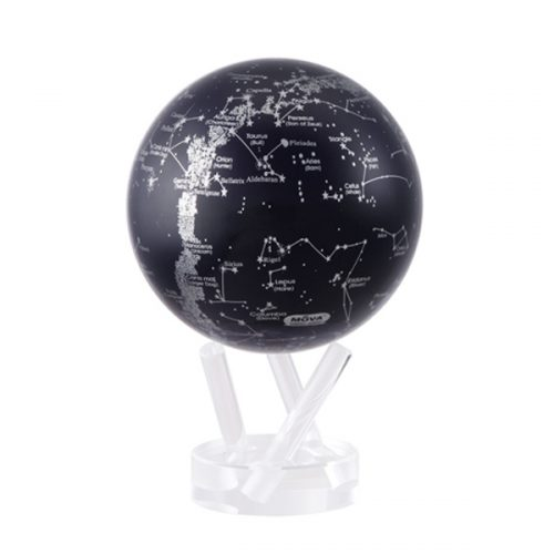 MOVA® Silver/Black Constellations Globe 4.5""
