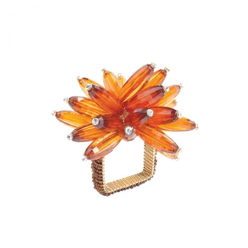 Kim Seybert Napkin Ring Constellation Amber