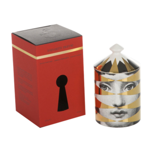 Fornasetti Losanghe Scented Candle - Gold - 300g