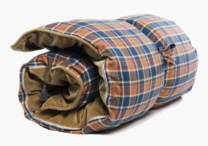 Hedgehouse Throw Bed-Winston Flannel In Rust & Blue