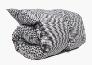 Hedgehouse Throw Bed-Gingham Shirt Cloth in Black