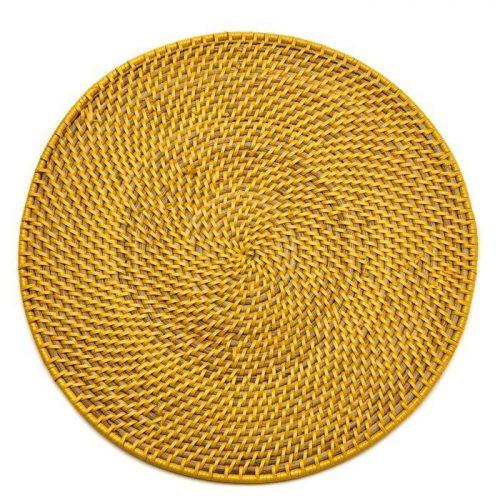 Deborah Rhodes Placemats CALYPSO RATTAN Yellow