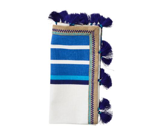 Kim Seybert JAIPUR NAPKIN IN WHITE & BLUE