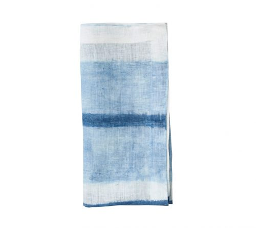 Kim Seybert HORIZON NAPKIN IN WHITE & BLUE