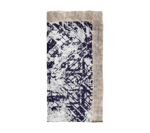 Kim Seybert DISTRESSED NAPKIN IN WHITE & NAVY