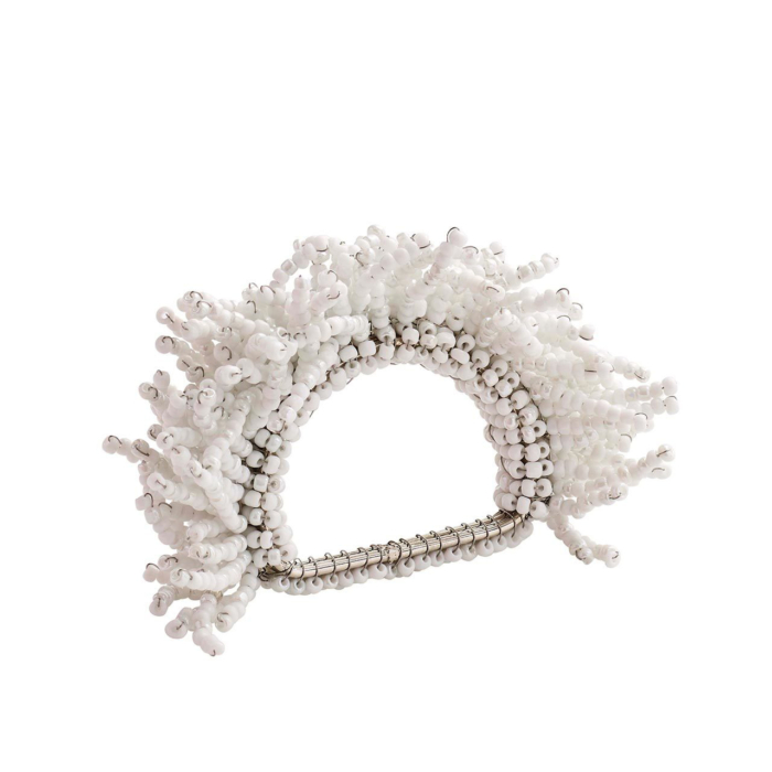 Kim Seybert CARNIVAL NAPKIN RING IN WHITE