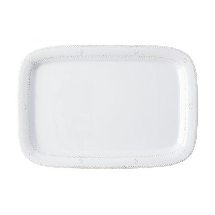 "Juliska Berry & Thread Melamine Whitewash 16"" Serving Tray/Platter"