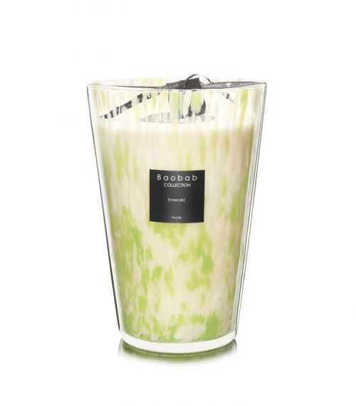 """Baobab Candle Collection – Pearls – Emerald – 13.8"""""""