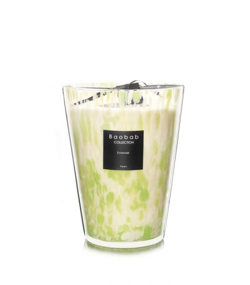 """Baobab Candle Collection – Pearls – Emerald 9.4"""""""