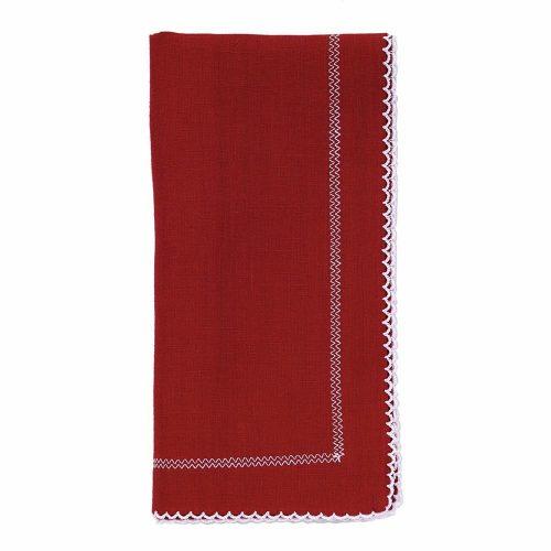 Bodrum Napkin Picot Red