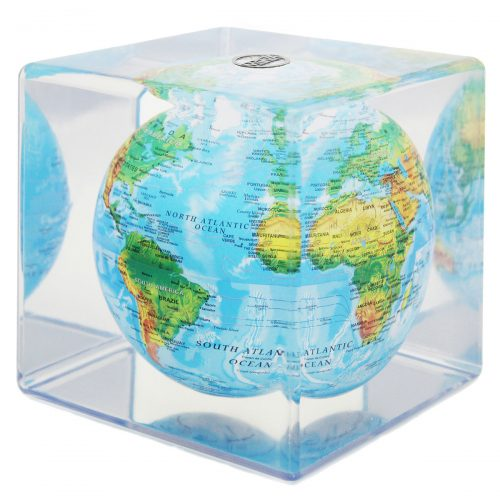 "RELIEF MAP BLUE MOVA GLOBE 5"" CUBE"