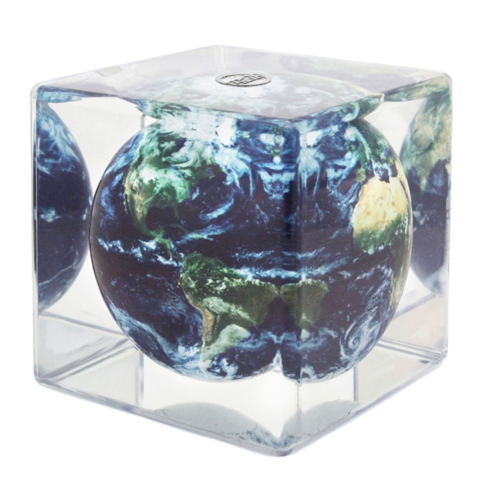 "EARTH WITH CLOUDS MOVA GLOBE 5"" CUBE"