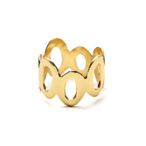 Deborah Rhodes Napkin Ring MOD CIRCLES