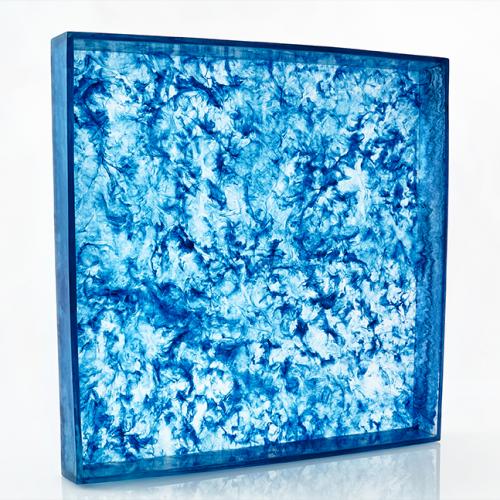 Lily Juliet Ottoman Trays-Blue