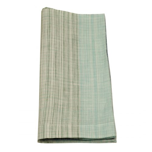 Tina Chen Designs Napkin Painterly Green Aqua Weave
