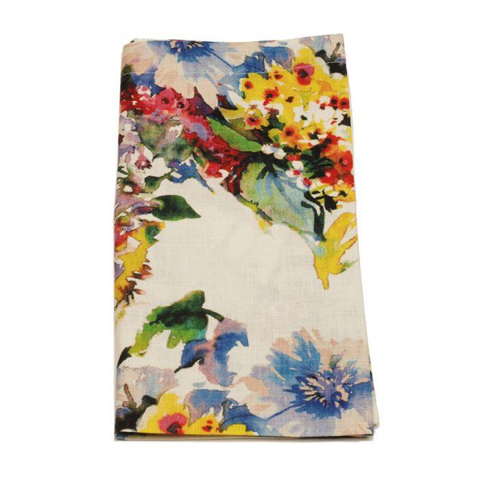 Tina Chen Designs Napkin Watercolor Flowers