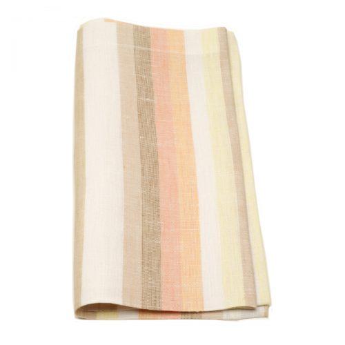 Tina Chen Designs Napkin Orange Beige Stripe