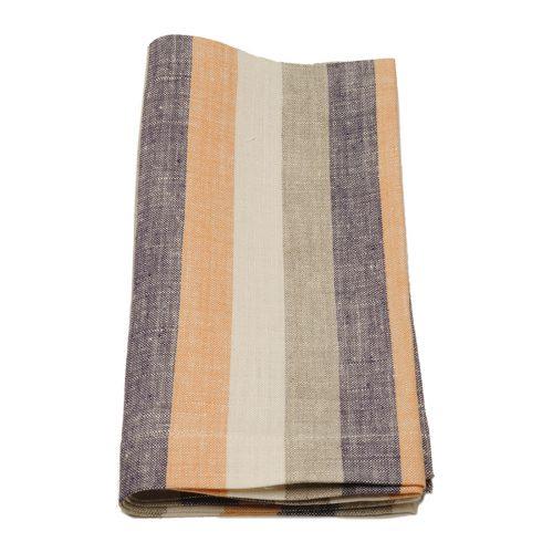 Tina Chen Designs Napkin Orange Beige Purple Stripe
