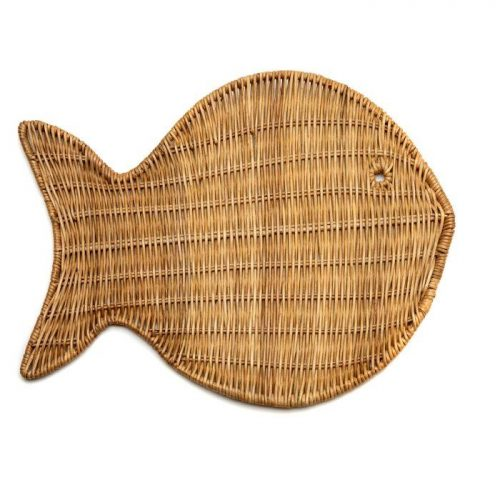 Deborah Rhodes Placemats WICKER FISH Natural