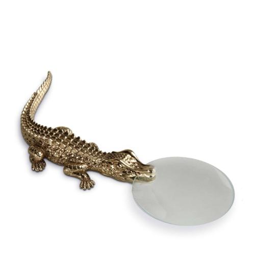 L'Objet Crocodile Magnifying Glass Gold