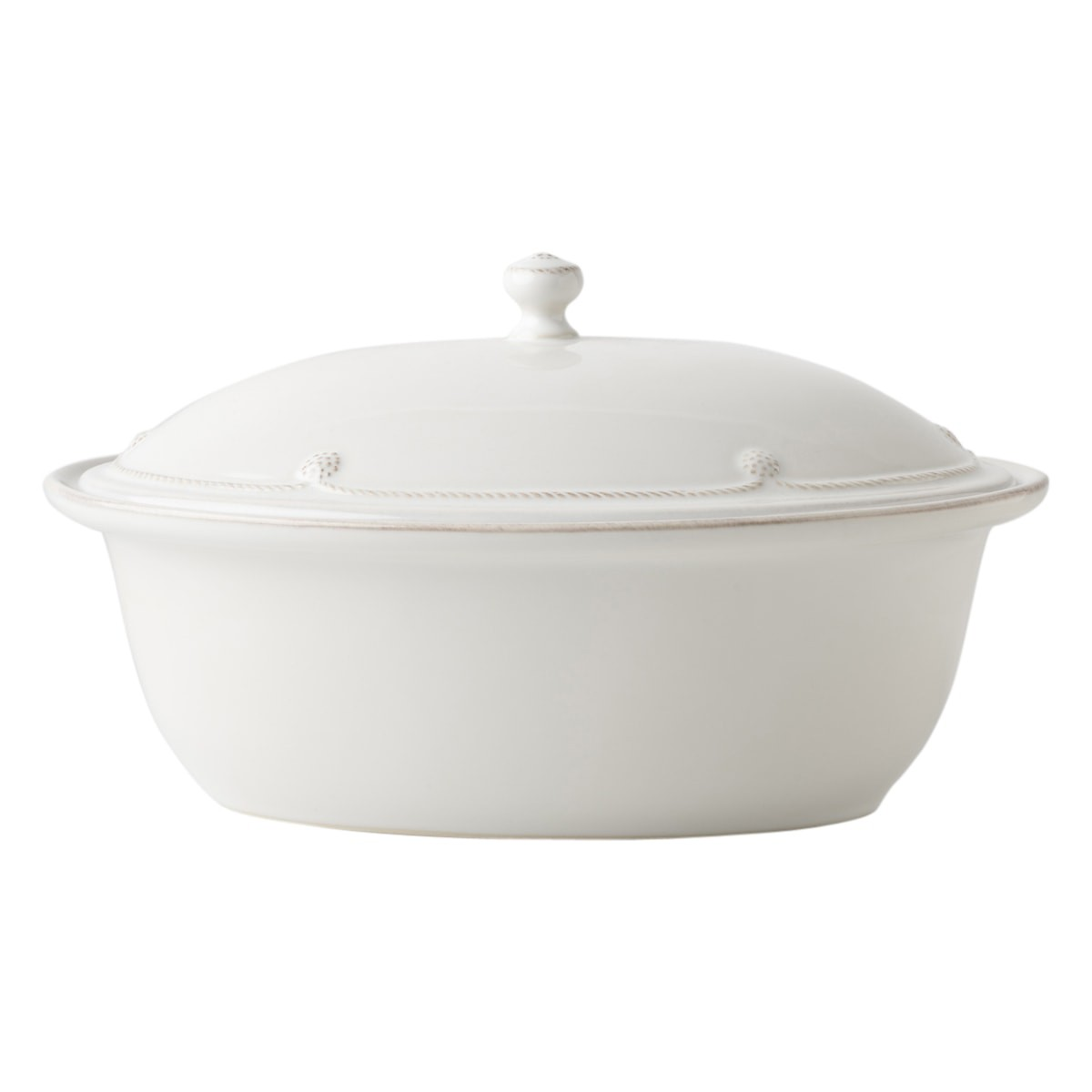 "JULISKA Berry & Thread Whitewash 13"" Covered Casserole"