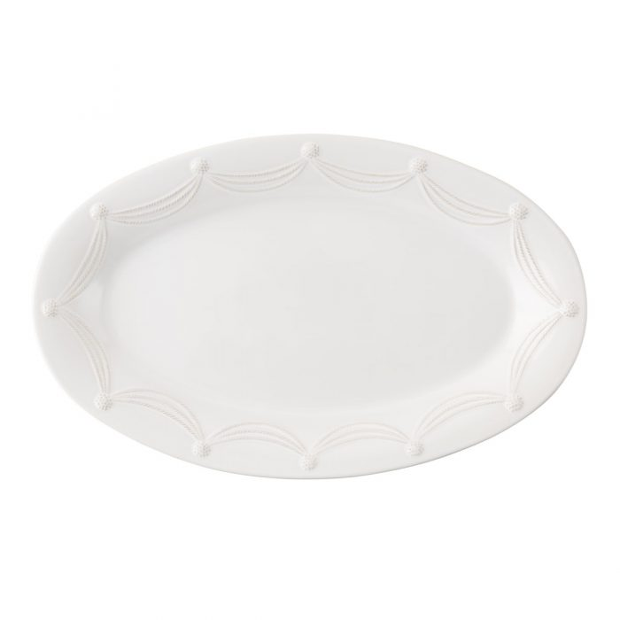 "JULISKA Berry & Thread Whitewash 22.5"" Oval Platter"