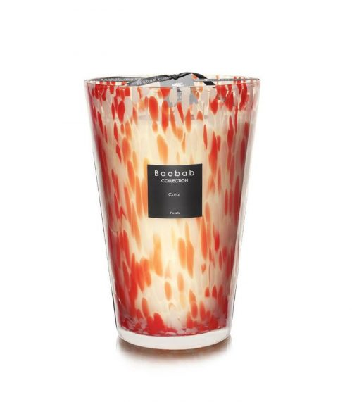 """Baobab Candle Collection – Pearls – CORAL – 13.8"""""""
