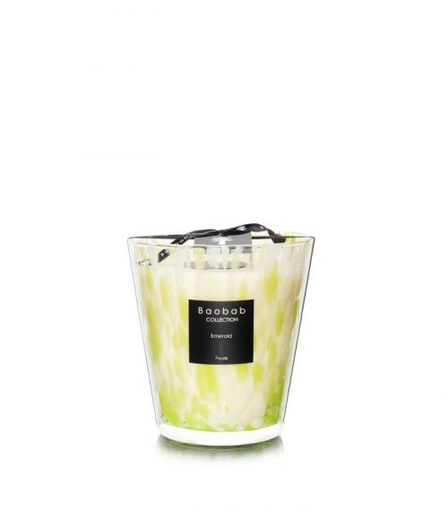 """Baobab Candle Collection – Pearls – Emerald 6.3"""""""