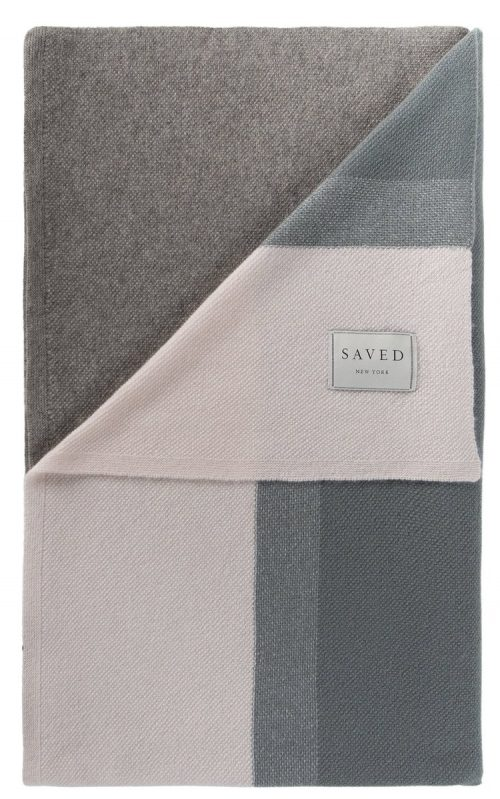 Saved NY-ARRAY GRAY-Cashmere Throw
