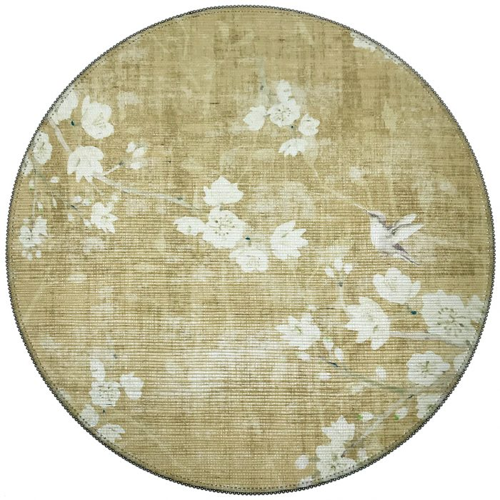 Nicolette Mayer-BLOSSOM FANTASIA GOLD ROUND PLACEMAT