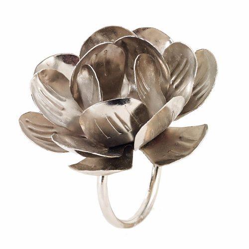 Bodrum Napkin Ring Metal Lily