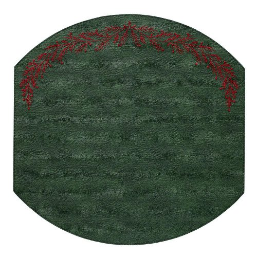 Bodrum Easy Care Placemat Holly Forest Red