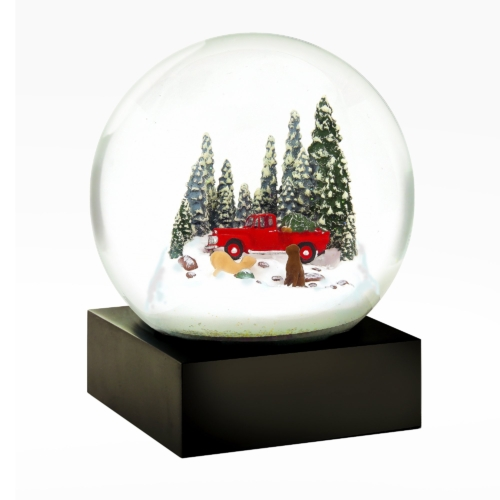 Snow Globes-Red Truck with Dogs