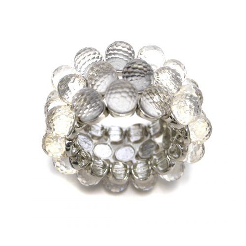 Julian Mejia Napkin Ring Crystal Faceted-grey
