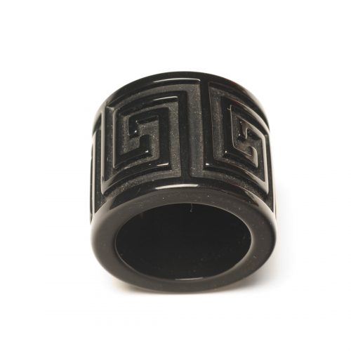Julian Mejia Napkin Ring Greek Key Lucite Black