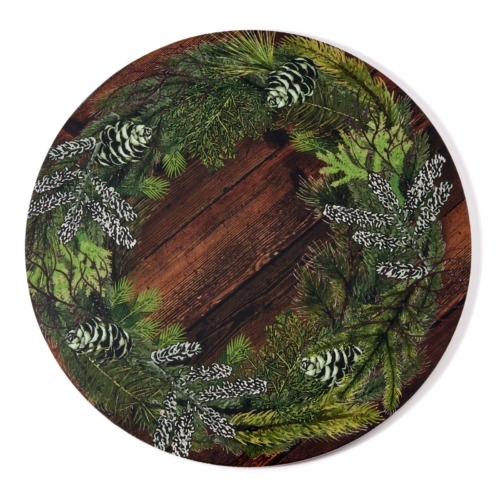 Deborah Rhodes Placemats WREATH LACQUER Wood