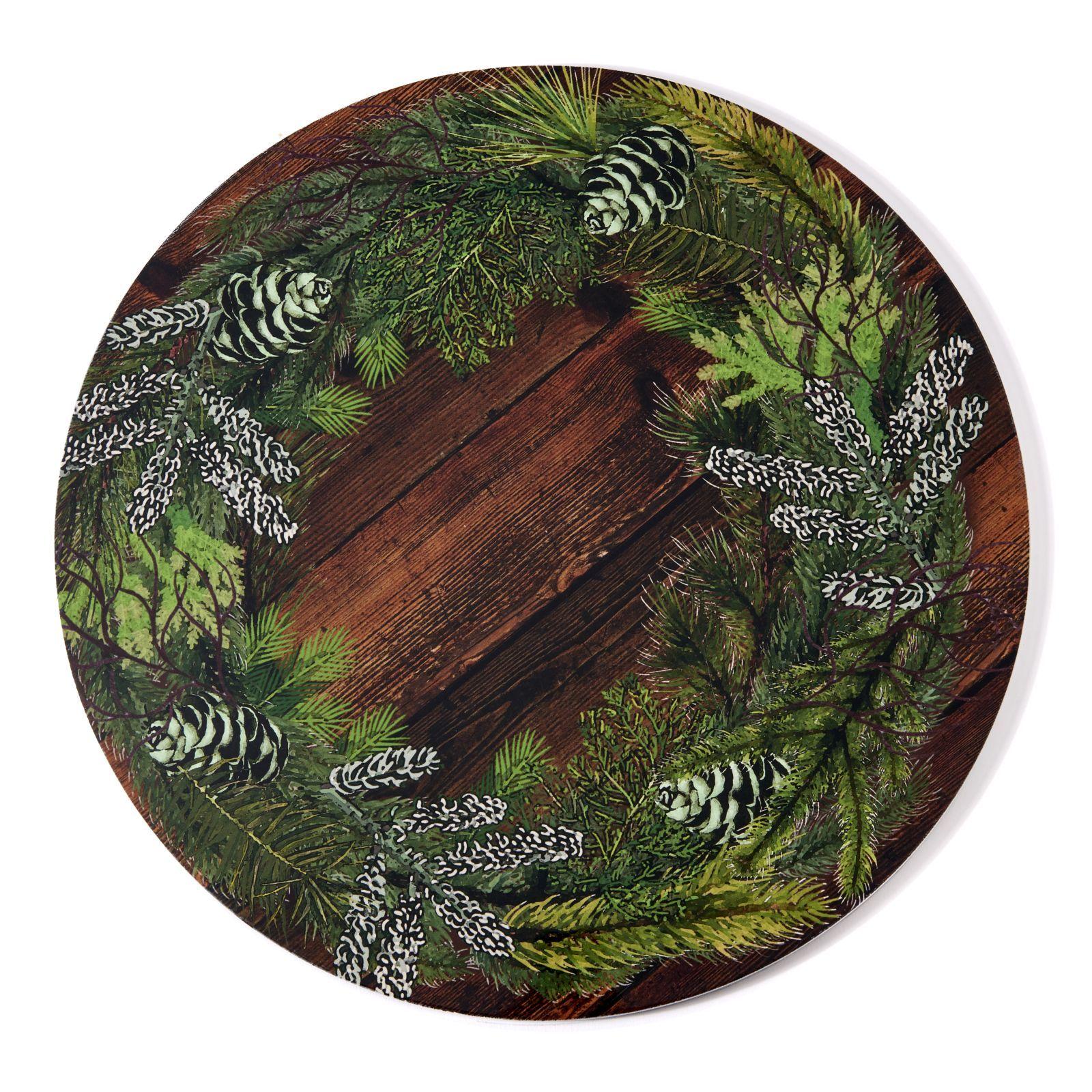 Deborah Rhodes Placemats WREATH LACQUER Wood